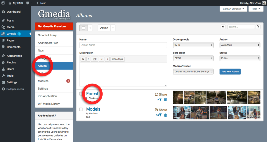 Gmedia Albums for WordPress