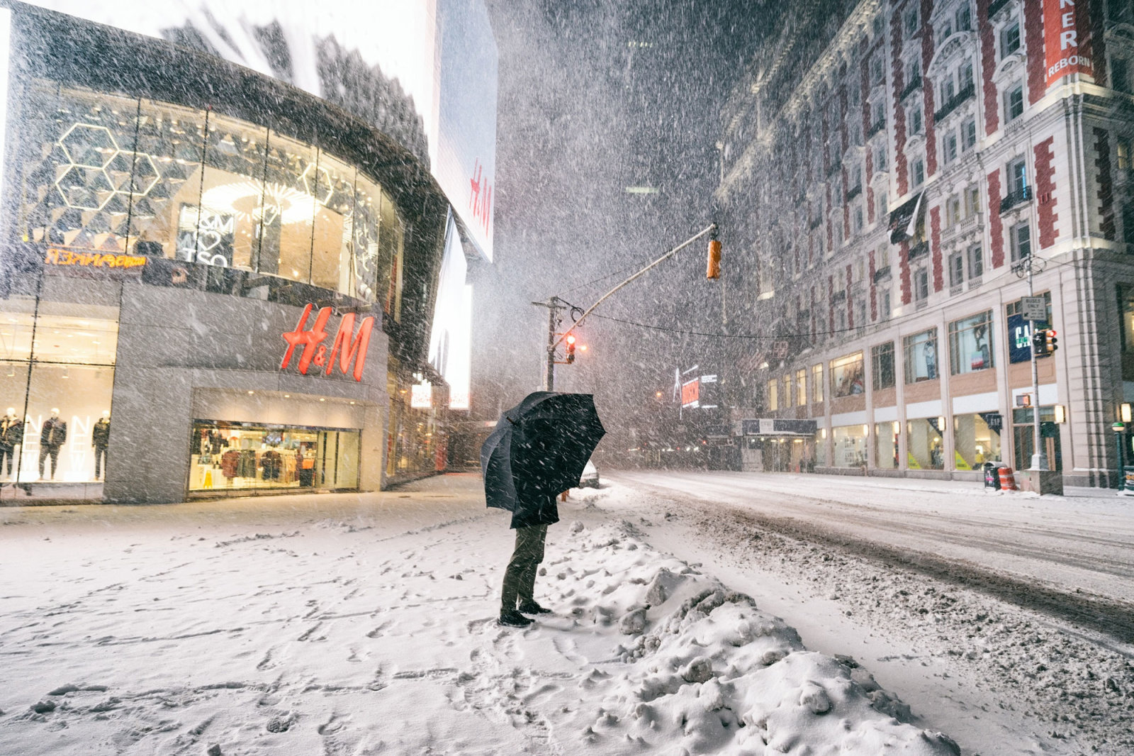 New York City - Winter Storm Juno - Times Square (of )