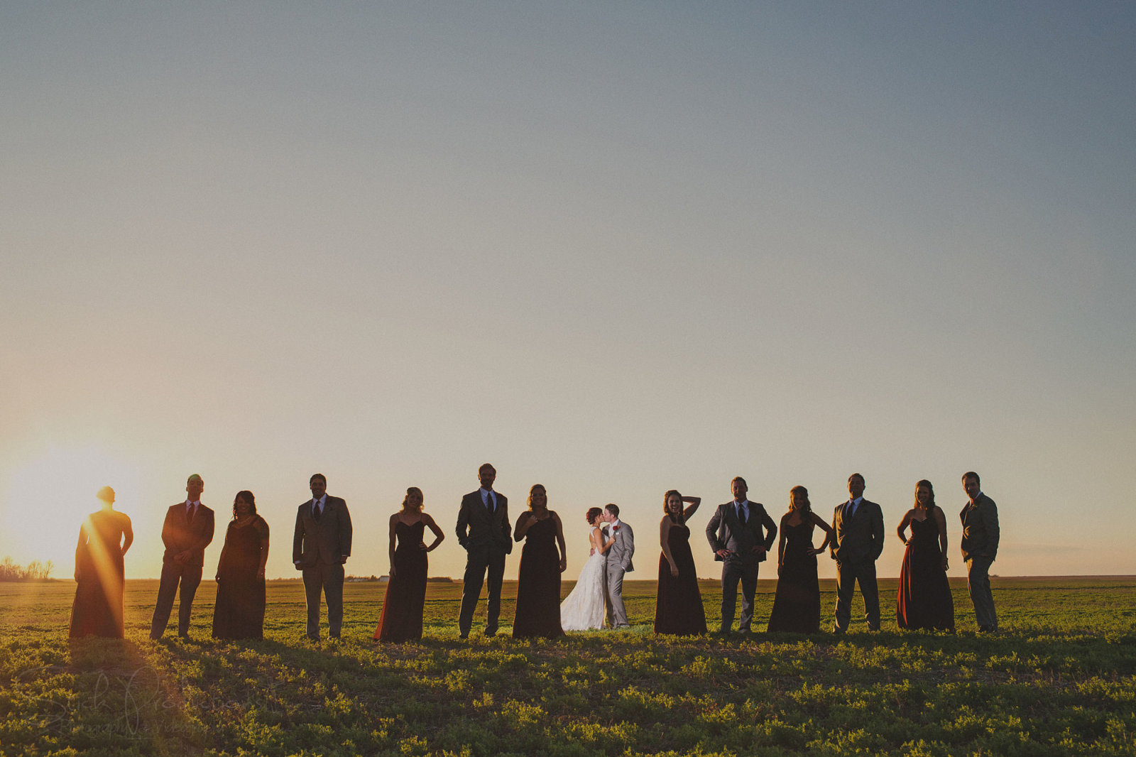 Wedding Party Silhouette