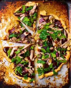 Potato and chicken gluten free  pizza