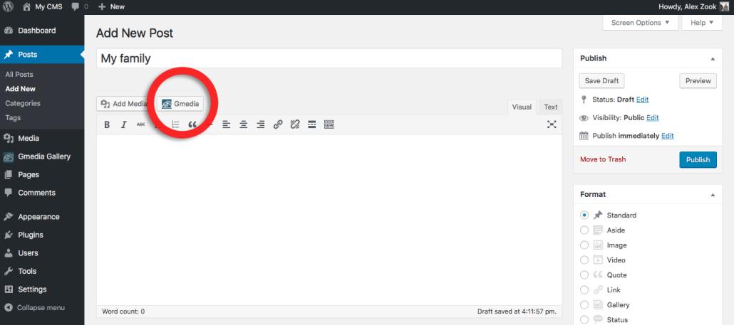 Creating an Image Gallery in WordPress