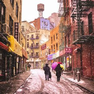 Snowy New York City