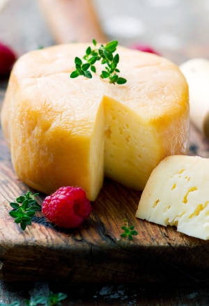 Smoced goat cheese